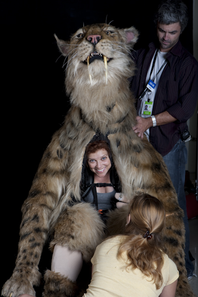 NHM Successfully Fills 73-lb Cat Costume Puppeteer Role