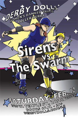DF <3's V.D. & Previews LADD Bout (Sirens v Swarm, 2/12/2011)