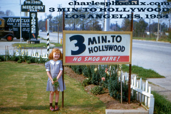 Charles Phoenix's Slide of the Week: 3 Min. to Hollywood, LA, CA 1948