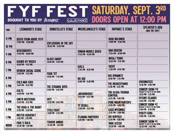 FYF Fest Next Saturday Sept. 3 @ LA State Historic Park–Set Times & Last Call to Win Tix