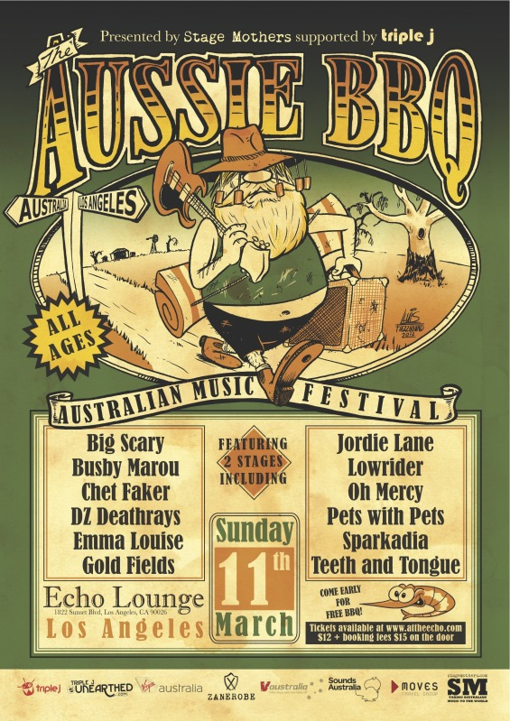 Aussie BBQ 2012 @ The Echo This Sunday 3/11&#8211;Win Tickets
