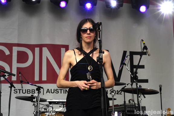 SXSW Music 2012 Photos: Chairlift @ SPIN Party, Stubb's Backyard, Friday, March 16