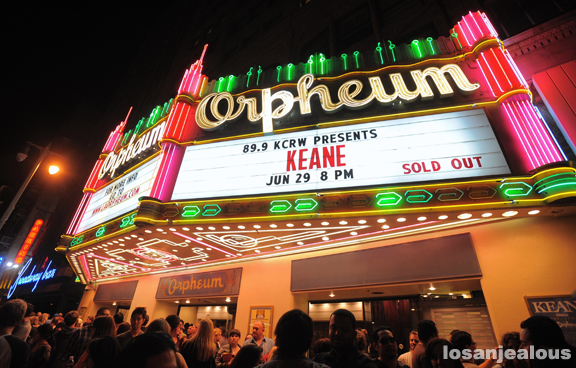 Photos: Keane @ Orpheum Theatre, June 29, 2012