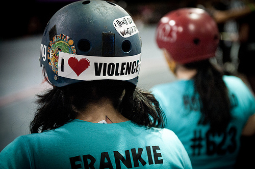 Think Globally, Bout Locally:  LADD Aftershockers v. Arizona Derby Dames @ the Doll Factory, 5/12/10