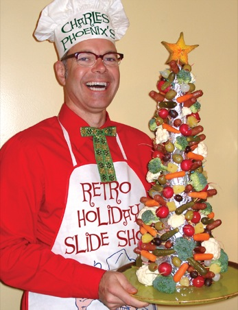 Charles Phoenix's Slide of the Week: The Astro Weenie Christmas Tree, My Kitchen, 2006