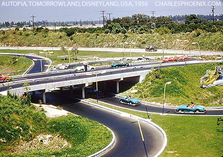 Charles Phoenix's Slide of the Week: Autopia, Tomorrowland, Disneyland, 1956