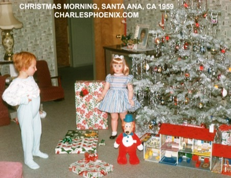 Charles Phoenix's Slide of the Week: Christmas Morning, Santa Ana 1959