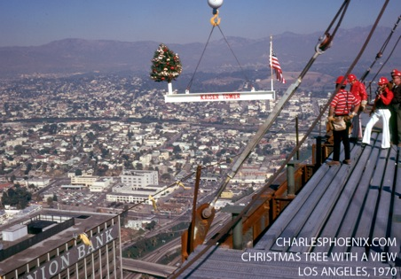 Charles Phoenix's Slide of the Week: Christmas Tree With A View, 1970