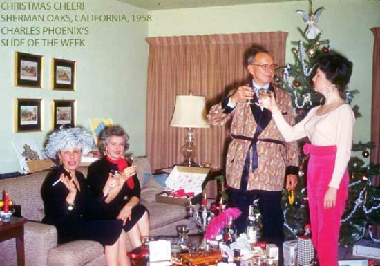 Charles Phoenix's Slide of the Week: Christmas Cheer, Sherman Oaks, 1958