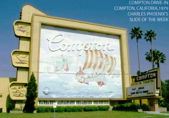 Charles Phoenix's Slide of the Week: Compton Drive-In Theater, 1979