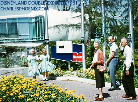 Charles Phoenix's Slide of the Week: Disneyland Double Exposed, 1961