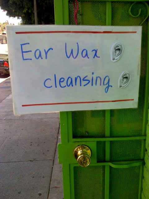 From Blake's Phone: SPECIAL EARWAX CLEANSING EDITION