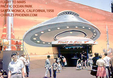 Charles Phoenix's Slide of the Week: Flight to Mars, POP, Santa Monica, 1958