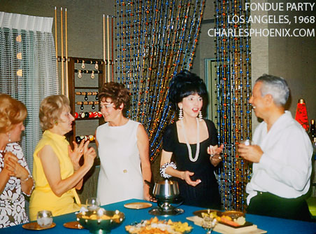 Charles Phoenix's Slide of the Week: Fondue Party, 1968