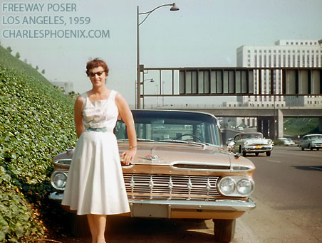 Charles Phoenix's Slide of the Week: Freeway Poser, 1959