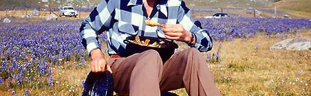 Charles Phoenix's Slide of the Week: Wildflowers & Fried Chicken, Antelope Valley, 1955
