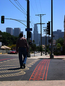Temple Crosswalks Receive Facelift;  Jaywalk-icity Undimmed