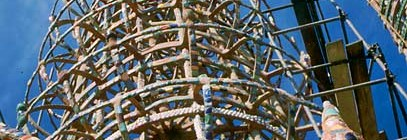 Charles Phoenix's Slide of the Week: Helen at Watts Towers, 1959