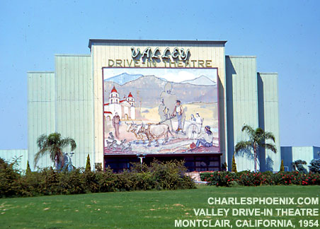 Charles Phoenix's Slide of the Week: Valley Drive-In Theatre, Montclair, 1954