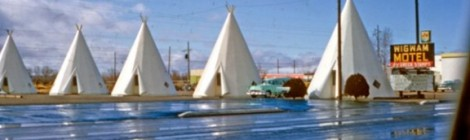 Charles Phoenix's Slide of the Week: Wigwam Drive By, Rialto, CA, 1957