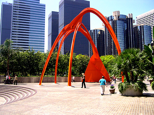 Photo Op: Yoshimi Battles the Bank of America Plaza, 333 S. Hope