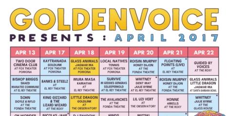 """Goldenvoice Presents: April 2017 """"Localchella"""" Side Shows"""