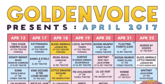 "Goldenvoice Presents: April 2017 ""Localchella"" Side Shows"