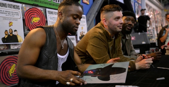 Photos: Young Fathers @ Amoeba Music, May 3, 2018